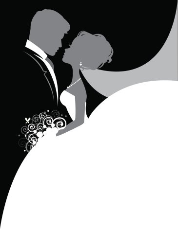 Bride And Groom So In Love Stock Illustration - Download Image Now