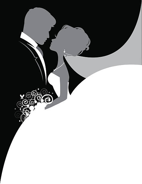 stockillustraties, clipart, cartoons en iconen met bride and groom so in love - bruid