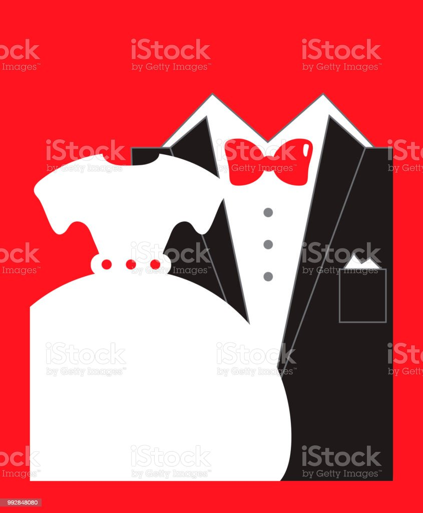 Bride And Groom Wedding Invitation In Red Black White Colors Copy ...