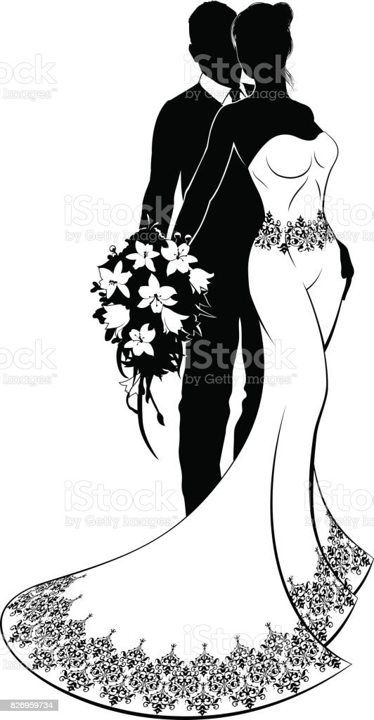 Bride and groom wedding silhouette download vetor e ilustrao bride and groom wedding silhouette download vetor e ilustrao royalty free junglespirit Gallery