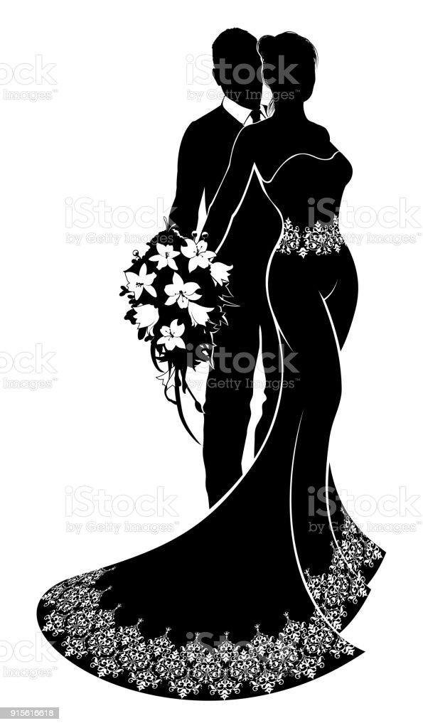 Bride and groom wedding silhouette arte vetorial de stock e mais bride and groom wedding silhouette bride and groom wedding silhouette arte vetorial de stock e junglespirit Gallery