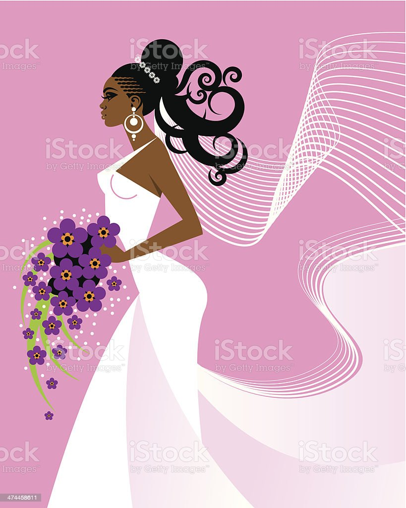 Bride C vector art illustration