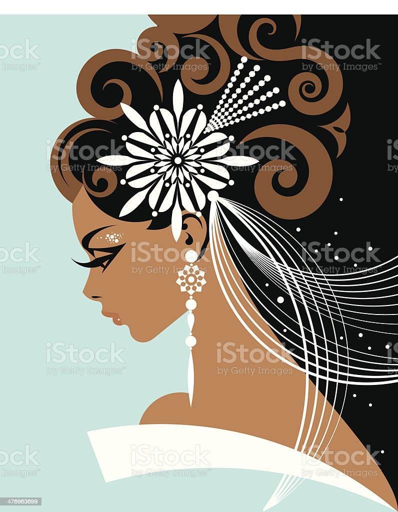 Bride Headpiece C vector art illustration