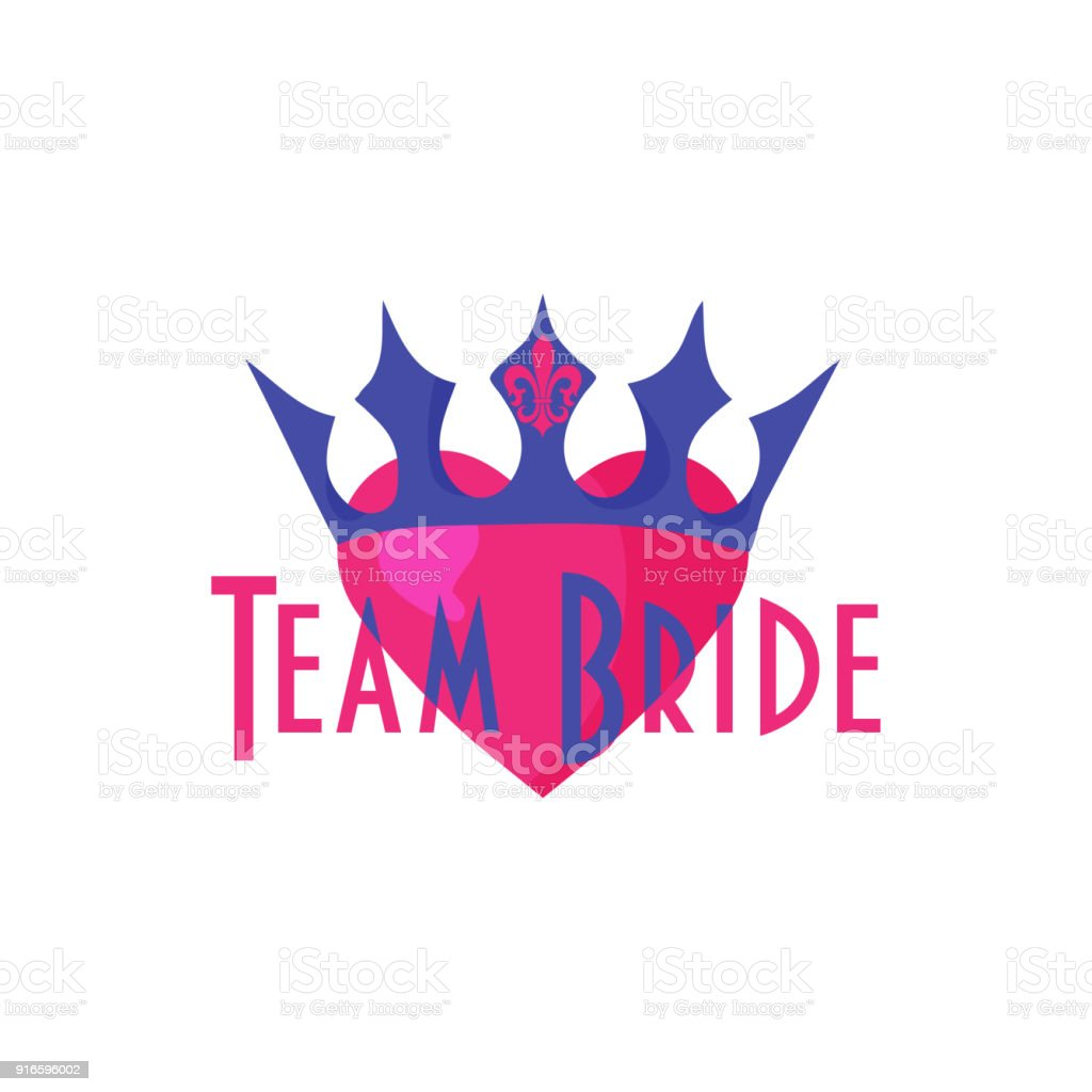 Bride Team trendy vecor sign. Great for bridesmaids team, wedding, bachelorette or hen party, bride shower. vector art illustration
