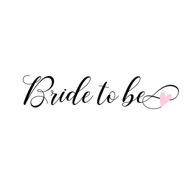 Bride to be, lettering. Card, invitations decoration. vector art illustration