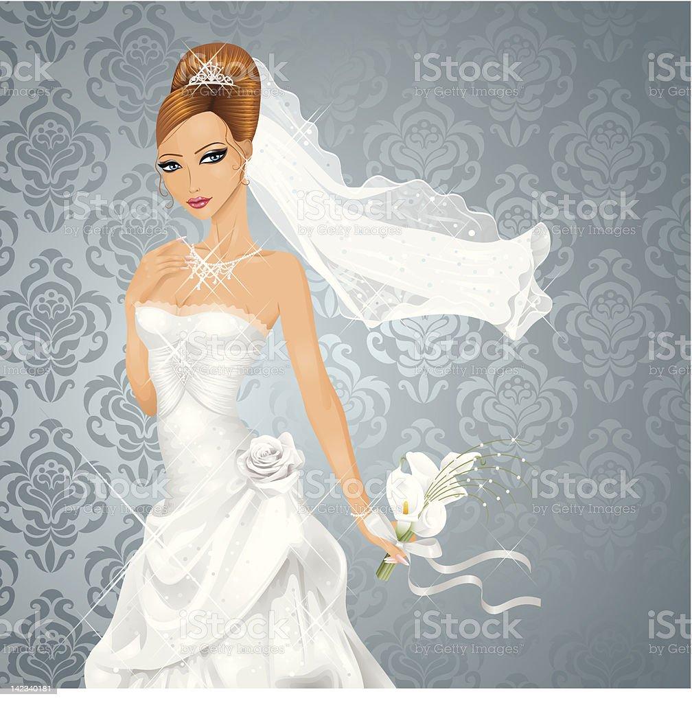 Bride. vector art illustration