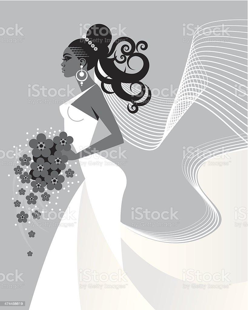Bride vector art illustration