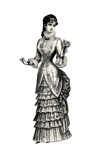 Bride victorian illustration