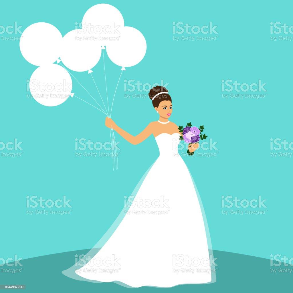 Sobre La Novia Boda Invitación Azul De Con Vestido En Fondo Novia Un gIHw4YHq