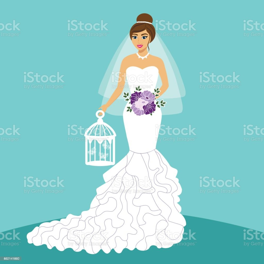 Bride Wedding Card With The Bride Stock Vector Art & More Images of ...