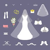 Bride wedding set