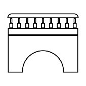 Bridge black color icon .