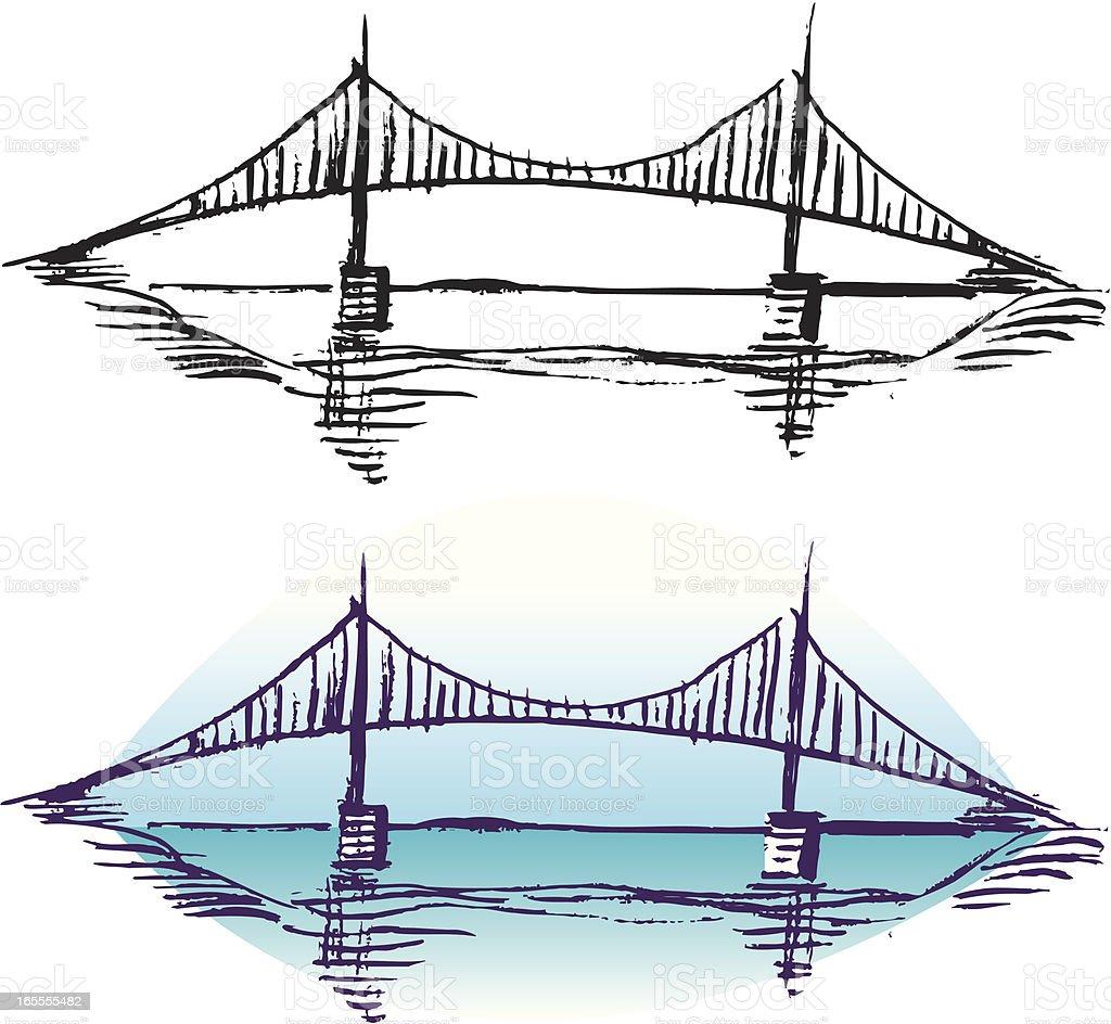 Bridge - Crossing royalty-free stock vector art
