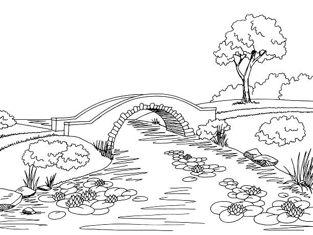 Royalty Free Stone Bridge Clip Art, Vector Images