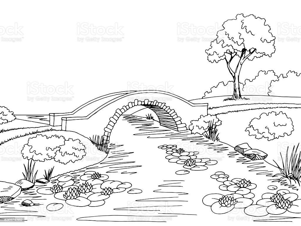 royalty free stone bridge clip art  vector images
