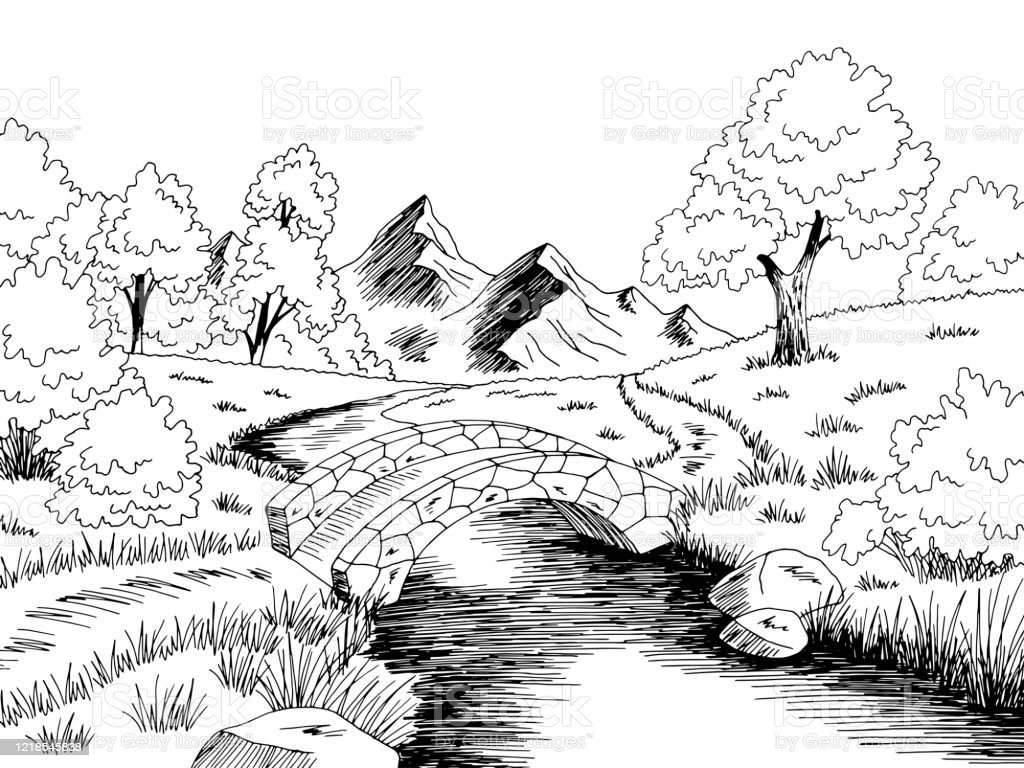 bridge graphic river black white landscape sketch illustration vector stock illustration download image now istock bridge graphic river black white landscape sketch illustration vector stock illustration download image now istock