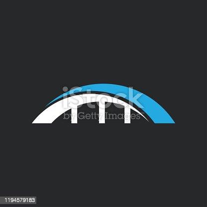 bridge icon and symbol vector illustration design template