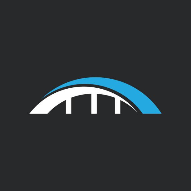 bridge icon and symbol bridge icon and symbol vector illustration design template natural arch stock illustrations