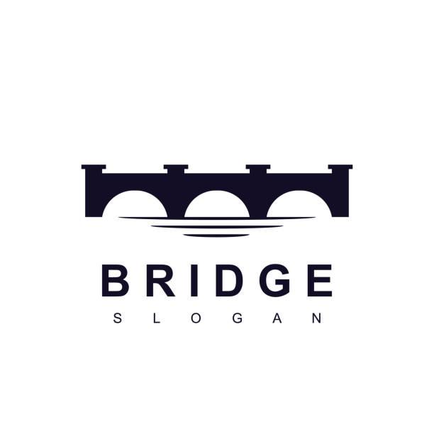 브리지 아이콘 디자인 벡터 - bridge stock illustrations