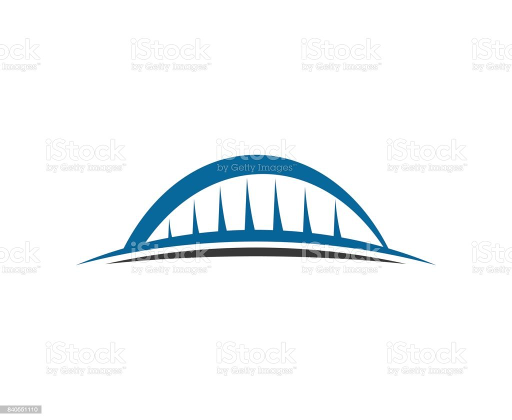 Bridge icon vector art illustration