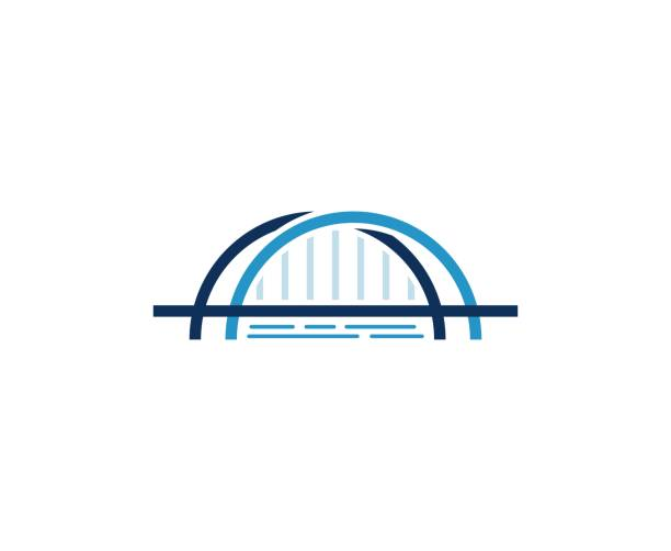 bridge icon - bridge stock illustrations