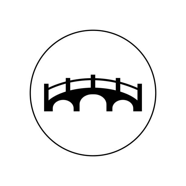 bridge icon vector - bridge stock illustrations