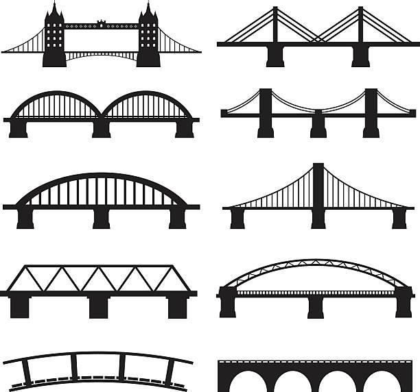 Bridge Iconsvectorkunst illustratie