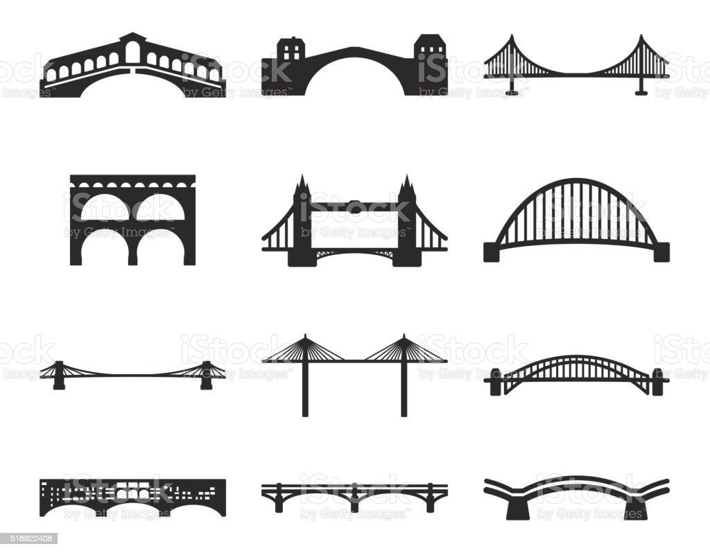 Ponte de ícones - ilustração de arte em vetor