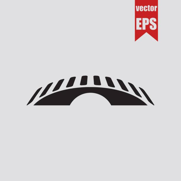 bridge icon.vector illustration. - bridge stock illustrations