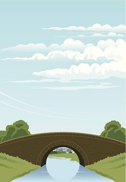 Bridge illustration vector art illustration