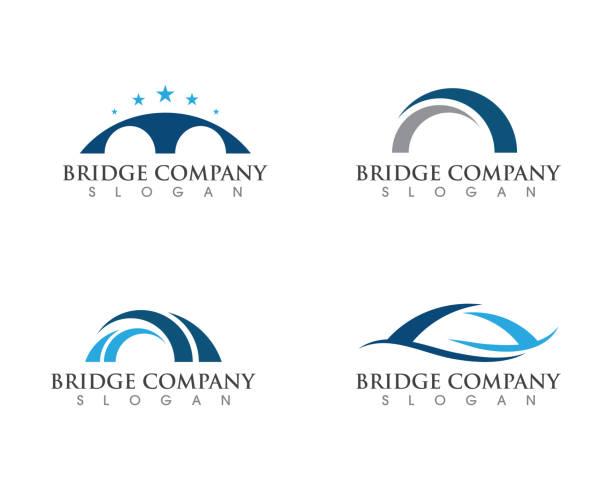 브릿지 로고 템플릿 - bridge stock illustrations