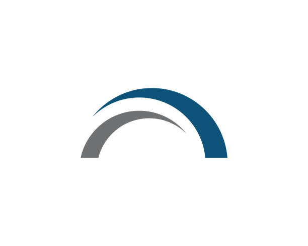 bridge logo template - bridge stock illustrations