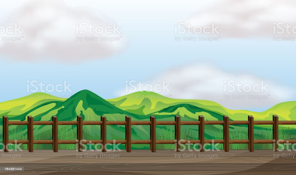 bridge overlooking the mountain royalty-free bridge overlooking the mountain stock vector art & more images of backgrounds