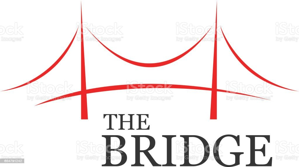 Bridge Symbol Design, Vector illustration vector art illustration