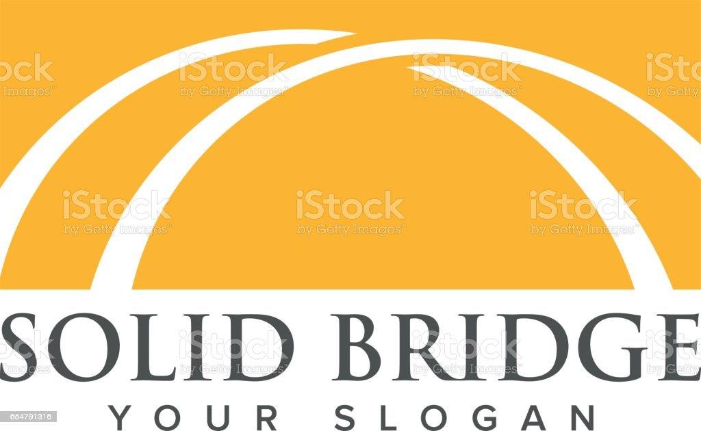 Bridge Symbol Design, Vector illustration vector art illustration