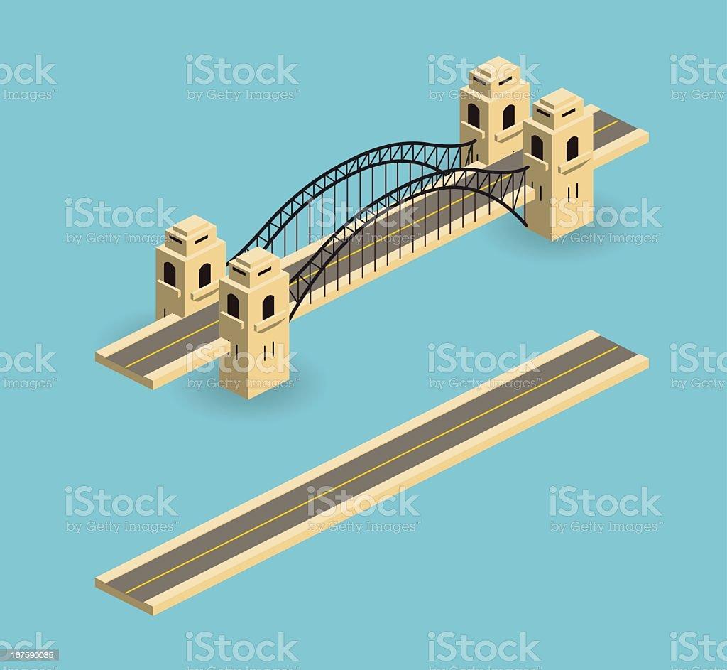 bridge royalty-free stock vector art