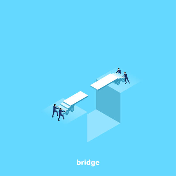 구름다리 - bridge stock illustrations
