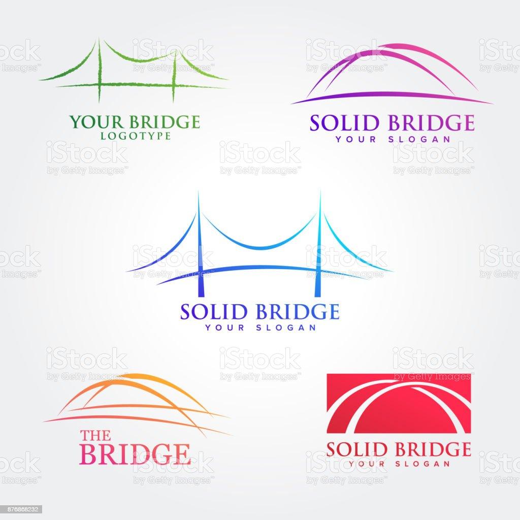 Bridges illustration symbol collections vector art illustration