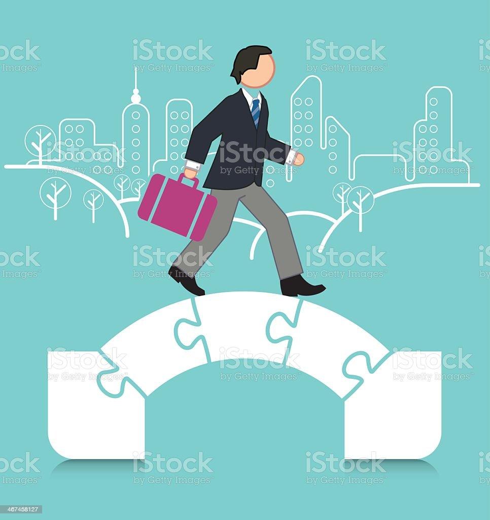 Bridging the Gap royalty-free stock vector art