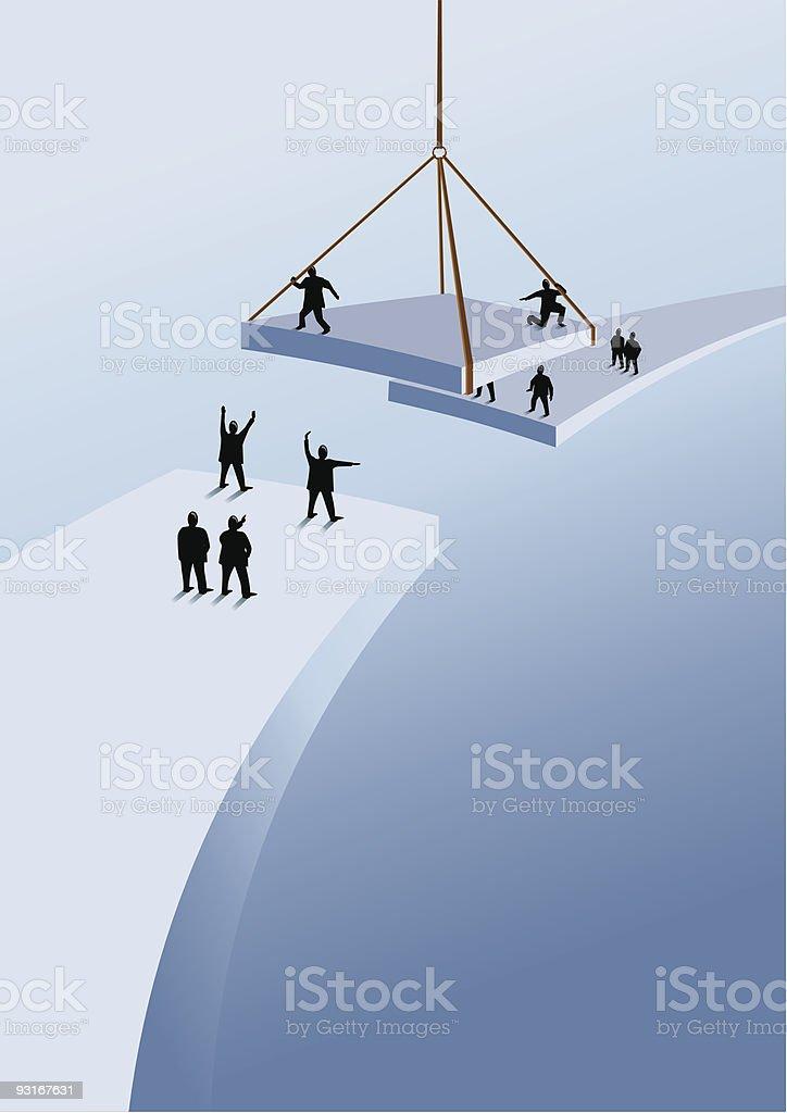 Bridging the gap vector art illustration