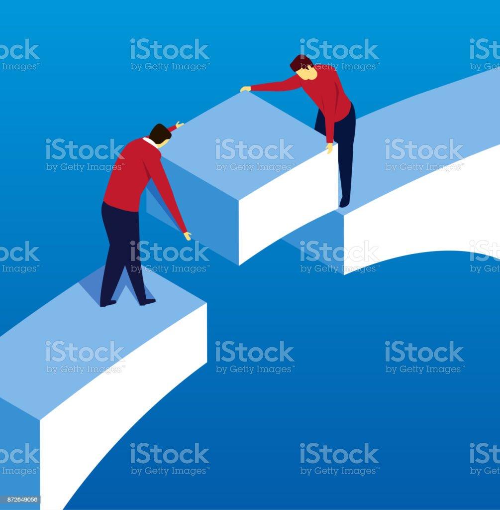 bridging vector art illustration