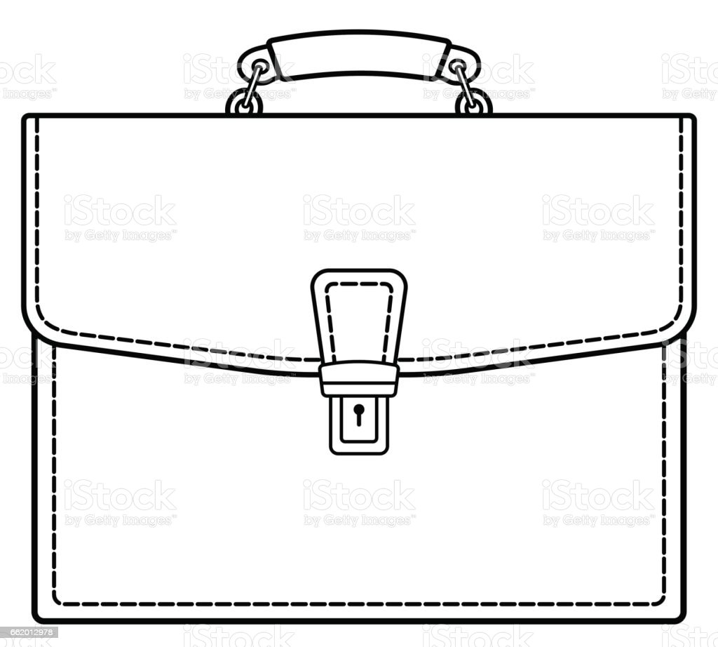 Brief case contour icon royalty-free brief case contour icon stock vector art & more images of arts culture and entertainment
