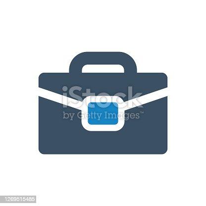 istock Briefcase bag icon vector illustration 1269515485