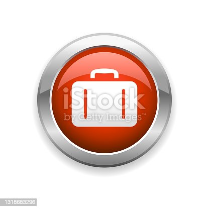 istock Briefcase Business Glossy Icon 1318683296