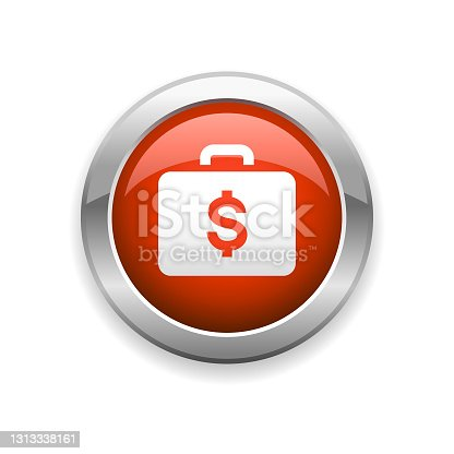 istock Briefcase Finance Glossy Icon 1313338161