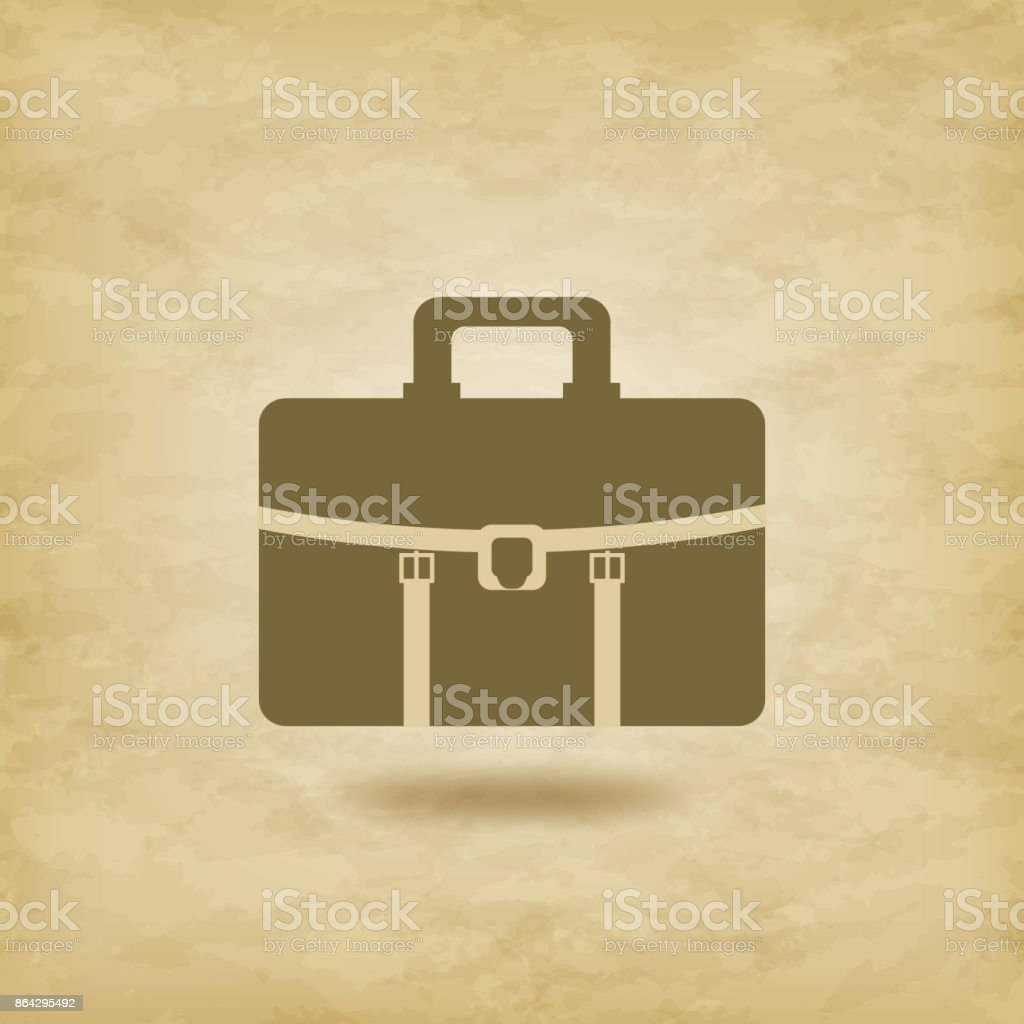 Briefcase icon on grunge background royalty-free briefcase icon on grunge background stock vector art & more images of briefcase