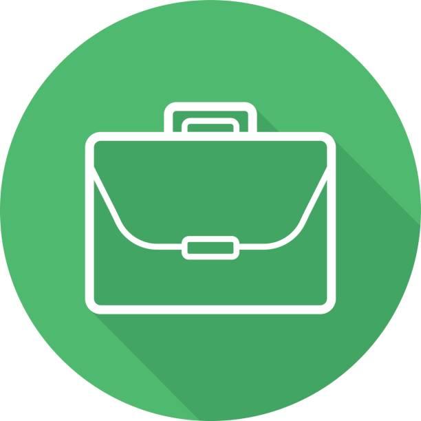 aktentasche-symbol - laptoptaschen stock-grafiken, -clipart, -cartoons und -symbole