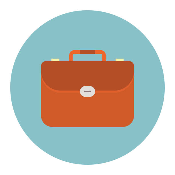 aktentasche-symbol - lederranzen stock-grafiken, -clipart, -cartoons und -symbole