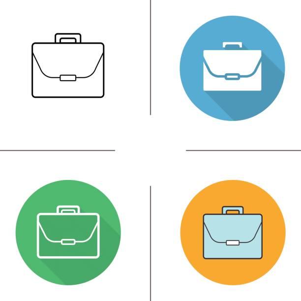 aktentasche symbole - laptoptaschen stock-grafiken, -clipart, -cartoons und -symbole