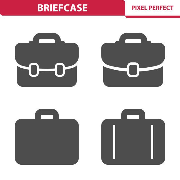 illustrazioni stock, clip art, cartoni animati e icone di tendenza di briefcase icons - borsa 24 ore